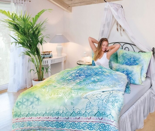 Blue Dream Faszination Bettwäsche 155x220 Cm Kissenbezug 40x80 Cm