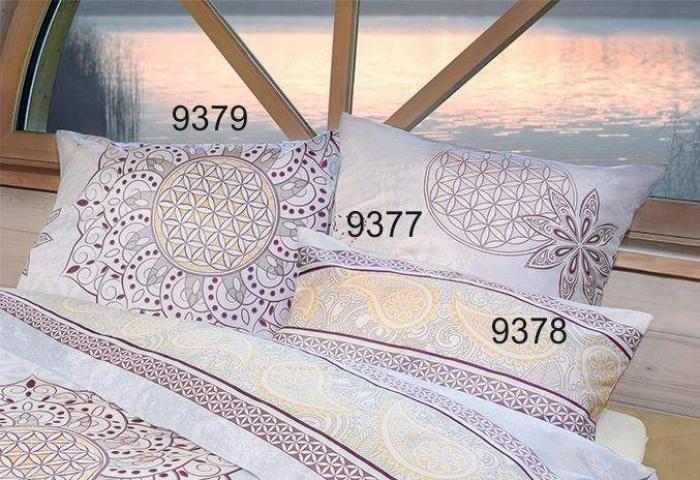 kissenbezug blume des lebens einzeln 80x80 cm silber gold hortensia. Black Bedroom Furniture Sets. Home Design Ideas