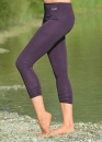 Legging 7/8 lang in aubergine